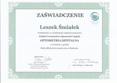 Optometria szpitalna