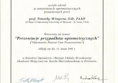 Prezentacje przypadków optometrycznych