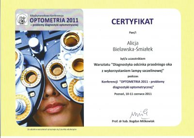 Diagnostyka przedniego odcinka oka